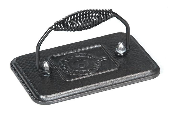 Rectangular Cast Iron Grill Press