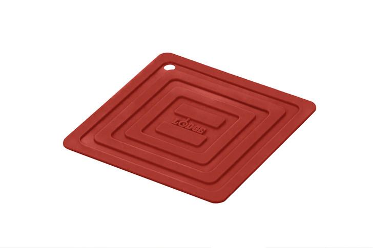 Square Red Silicone Pot Holder