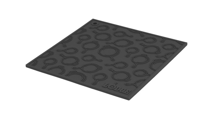 Square Black Silicone Skillet Pattern Trivet