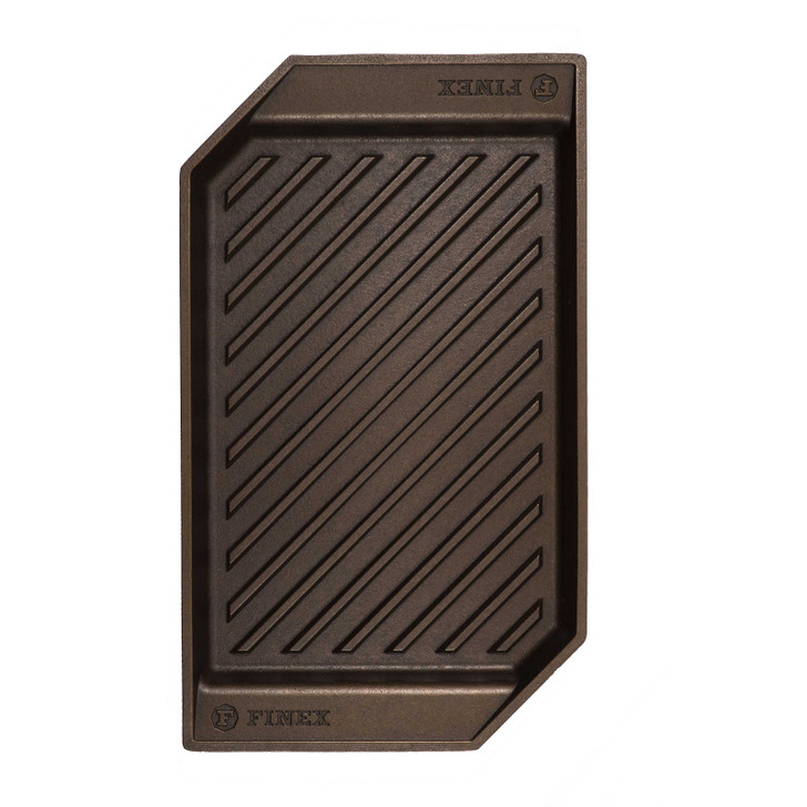Finex 15 Inch Cast Iron Lean Grill Pan