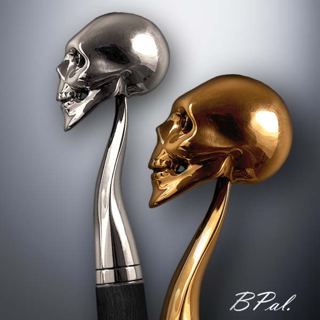 Custom walking cane Skull design is created and produced in the USA. Handmade walking canes handles are cast from Sterling silver or Bronze and mounted on an exotic wood shaft. Somebody using a walking stick might want not only physical support, but also some level of decorative and aesthetic value. Nevertheless, while considering the aesthetics of the walking cane it is important to remember that the comfort, physical stability and security of the walking canes should also be given priority. Functional and decorative walking canes can be requested as a beautiful anniversary gift.