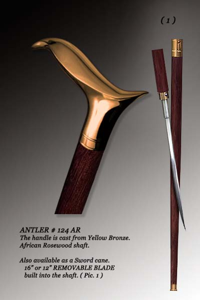 Unique Walking Cane Antler. Style #124