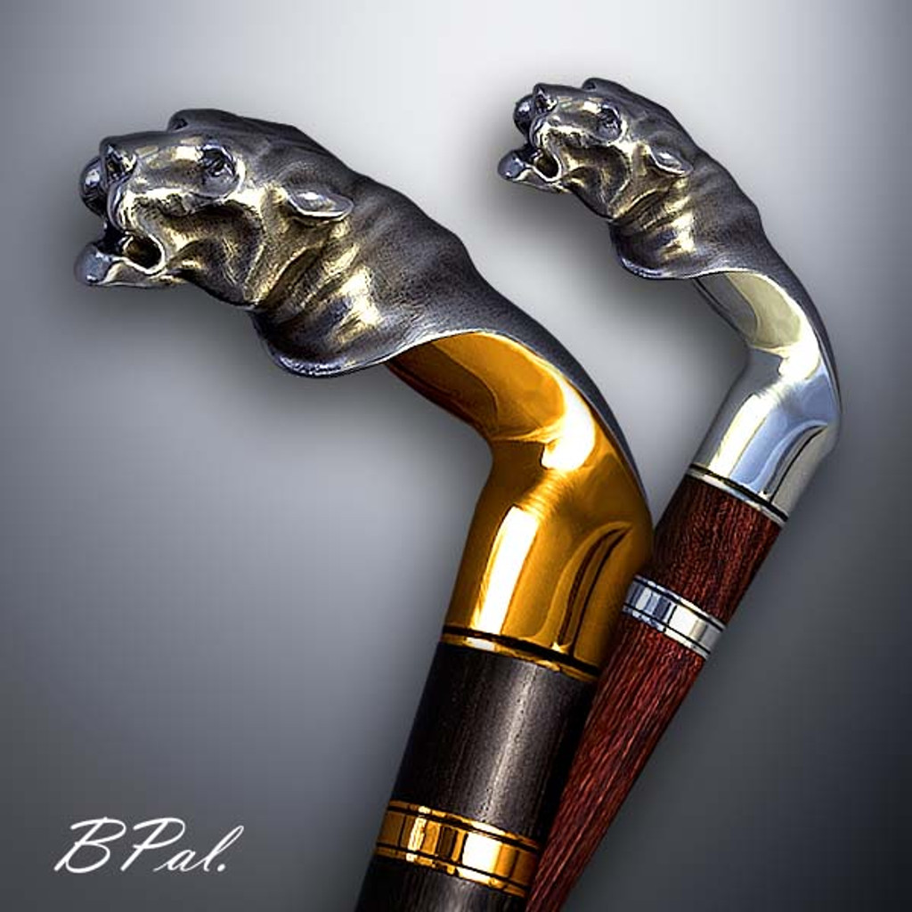 Walking canes, walking sticks Tiger. Accent on walking canes design. Handmade in the USA.  Designer walking canes are made individually and signed by the artist.