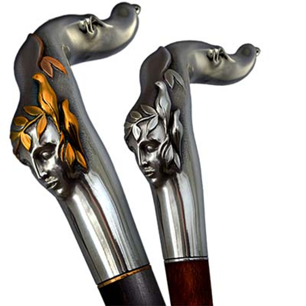 Walking cane Echo can be done from different materials and converted to the swords cane or gun cane.