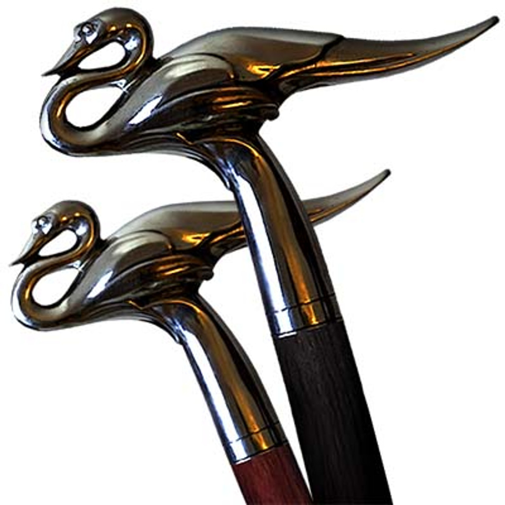 Walking cane Swan can be done from different materials and converted to the swords cane or gun cane.