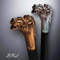 Custom made walking sticks Lion Head. Style # 103