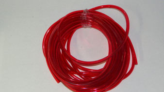 "Vintage 1/4"" Red Transparent Fuel Line"