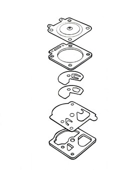 WA55 OEM Carb Diaphram & Gasket Set