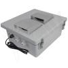 Altelix 14x12x6 Fiberglass Weatherproof Vented WiFi NEMA Enclosure with Cooling Fan, 120 VAC Outlets & Power Cord