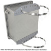 Altelix 14x12x6 Fiberglass Vented Weatherproof NEMA Enclosure with Aluminum Mounting Plate and 120 VAC Outlets