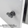 Handle Padlock Latch for NS Series Steel Enclosures and NFC Series FRP Enclosures