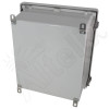 Altelix 14x12x6 Fiberglass Vented Weatherproof NEMA Enclosure with Aluminum Mounting Plate, 120 VAC Outlets and Power Cord