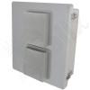 Altelix 14x12x6 Fiberglass Weatherproof Vented NEMA Enclosure with 120 VAC Outlets & 85°F Turn-On Cooling Fan