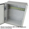 35mm Top Hat DIN Rail Kit for NP141105 & NFC121006 Series Enclosures