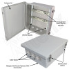 Altelix 14x12x6 Industrial DIN Rail Enclosure Fiberglass NEMA 4X IP66