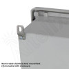 Altelix 14x12x6 Fiberglass NEMA 4X Outdoor Weatherproof Telephone Call Box with Service Phone Label