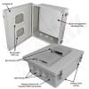 Altelix 14x12x6 Inch Vented Fiberglass Weatherproof NEMA Enclosure with Blank Aluminum Mounting Plate