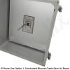Altelix 14x12x6 NEMA 4X Fiberglass Outdoor Weatherproof IP Telephone Call Box with Service Phone Label