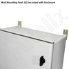 Altelix 12x10x6 Vented Fiberglass Weatherproof NEMA Enclosure with 120 VAC Outlets & 85°F Turn-On Cooling Fan