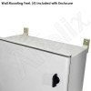 Altelix 12x10x6 Vented Fiberglass Weatherproof NEMA Enclosure with 120 VAC Outlets, Power Cord & 85°F Turn-On Cooling Fan