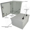 Altelix 16x12x8 Fiberglass FRP NEMA 3x / IP65 Weatherproof Equipment Enclosure