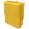 Altelix 14x11x5 Inch Yellow Polycarbonate + ABS Weatherproof NEMA Enclosure with Aluminum Mounting Plate