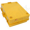 Altelix 14x11x5 Inch Yellow DIN Rail Polycarbonate + ABS Weatherproof NEMA Enclosure with Aluminum Mounting Plate