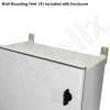 Altelix 24x20x9 Vented Fiberglass Weatherproof NEMA Enclosure with Dual Cooling Fans and 120 VAC Outlets