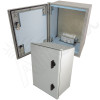 Altelix 16x12x8 Insulated NEMA 4X Fiberglass Heated Weatherproof Enclosure with 200W Heater and 120 VAC Outlets