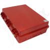Altelix 17x14x6 Inch Red Polycarbonate + ABS Weatherproof NEMA Enclosure