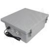 Altelix 14x12x6 Fiberglass Weatherproof Heated NEMA Enclosure with 200W Heater, 120 VAC Outlets & Power Cord