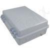Altelix 14x11x5 IP55 NEMA 3R PC+ABS Plastic Weatherproof Pole Mount Utility Enclosure with Hinged Door