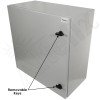 """Altelix 24x24x12 19"""" Wide 4U Vertical Rack Steel Weatherproof NEMA Enclosure with Dual Cooling Fans, 120 VAC Outlets and Power Cord"""