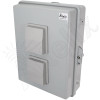 Altelix 17x14x6 Vented DIN Rail Polycarbonate + ABS Weatherproof NEMA Enclosure with Aluminum Mounting Plate