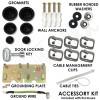 Altelix 14x11x5 Stealth Black DIN Rail Polycarbonate + ABS Weatherproof NEMA Enclosure