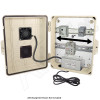 Altelix 14x11x5 Light Ivory Polycarbonate + ABS Vented Fan Cooled Weatherproof DIN Rail NEMA Enclosure with Aluminum Mounting Plate, 120 VAC Outlets & Power Cord