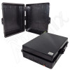 Altelix 17x14x6 IP55 NEMA 3R PC+ABS Plastic Weatherproof Black Utility Enclosure with Hinged Door