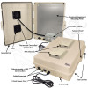 Altelix 17x14x6 Light Ivory Polycarbonate + ABS Vented Fan Cooled Weatherproof NEMA Enclosure with Aluminum Mounting Plate and 120 VAC Outlets & Power Cord