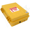 Altelix Outdoor Weatherproof Emergency Phone Call Box for Slim-Line Phones, Yellow 14x11x5 with Emergency Phone Label