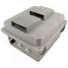 Altelix 14x12x8 Fiberglass Weatherproof Vented WiFi NEMA Enclosure with 120 VAC Outlets, Power Cord & Non-Metallic Equipment Mounting Plate
