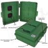 Altelix 14x11x5 Green Vented Polycarbonate + ABS Weatherproof NEMA Enclosure