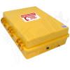 Altelix Yellow Pole Mount Outdoor Weatherproof Emergency Phone Call Box 17x14x6 with Emergency Phone Label