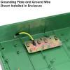 Altelix 17x14x6 IP55 NEMA 3R PC+ABS Green Plastic Weatherproof Utility Enclosure with Hinged Door