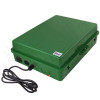 Altelix 17x14x6 Green Polycarbonate + ABS Weatherproof NEMA Enclosure with Aluminum Mounting Plate, 120 VAC Outlets & Power Cord