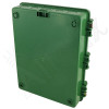 Altelix 17x14x6 Green DIN Rail Polycarbonate + ABS Vented Fan Cooled Weatherproof NEMA Enclosure with 120 VAC Outlets & Power Cord