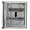 Altelix 12x10x6 Industrial DIN Rail NEMA 4X Steel Weatherproof Enclosure