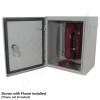 Altelix 12x10x6 Steel Outdoor Weatherproof NEMA 4X Phone Call Box with Service Phone Label