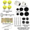 Altelix 14x11x5 PC + ABS Weatherproof Utility Box NEMA Enclosure with NMKG-240 Pole Mount Kit