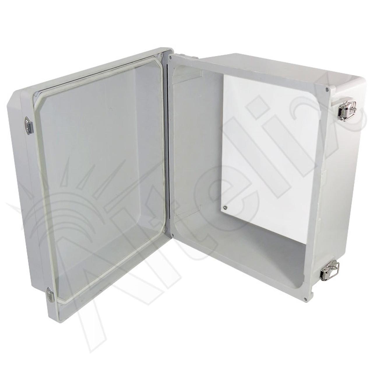 CPE AP Waterproof Outdoor Enclosure 8x8x4 Poly Enclosure SMA Plug Cable