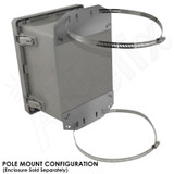 Stainless Steel Pole Mount / Flange Mount Kit for Altelix NF100806, NS080806 & NS100806 Series NEMA Enclosures